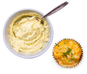 Sweet Potato, Cheese & Dill Muffins