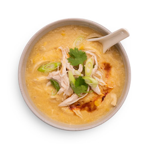 Fragrant Oriental Chicken & Corn Soup