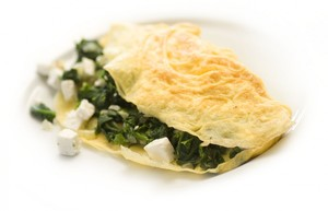 Greek Omelette with Spinach and Feta