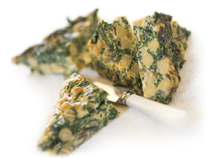 Spinach and Chickpea Frittata