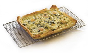 Spinach, Egg and Feta Tart