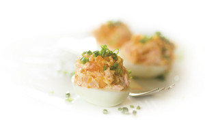 Stuffed Eggs with Smoked Salmon